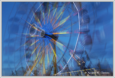 Zooming ferris wheel, Mesa Co. Fair, Grand Junction, CO