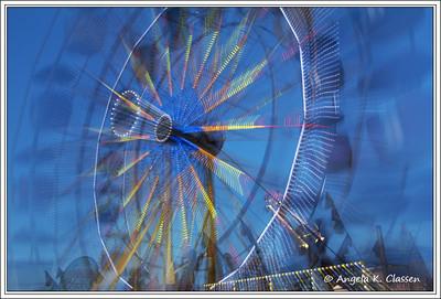 Zooming ferris wheel, Mesa Co. Fair, Grand Junction, CO