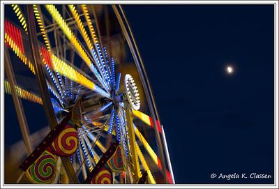 Spinning ferris wheel, Mesa Co. Fair, Grand Junction, CO