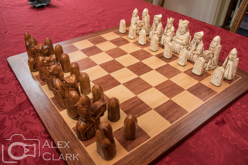The full set of chessmen