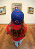 Cub fan (Laura) at the Art Institute of Chicago
