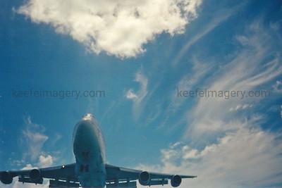 Airbus A340-500 Maho Beach, SXM, Sint Maarten