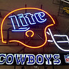 Miller Lite Cowboys Neon Sign
