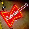 Beudweiser Beer Neon Guitar Sign