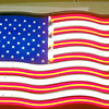 American Flag Portable Neon Sign