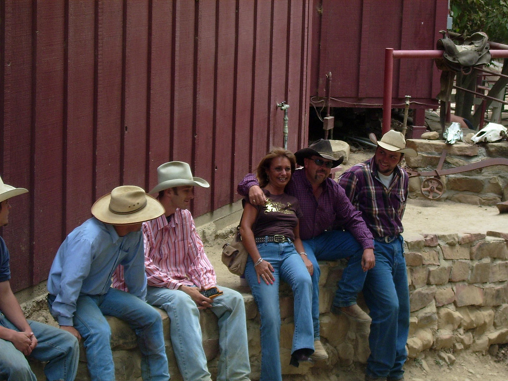 And what's a ranch without cowboys? One of our Conejo Ski & Sports club 'cowgirls', Eileen Beer, joins in the fun.