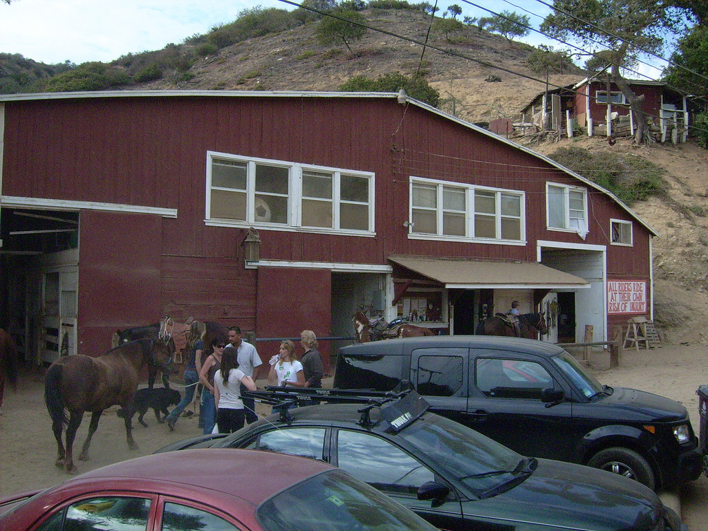 Sunset Ranch tack room and bunk house (above)