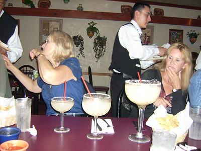 Remember, you can only have one Margarita before getting back on the horse for the ride home.  Only ONE!  Contemplation and ordering.  Hmmmm, small, medium and Conjeo Ski club size?