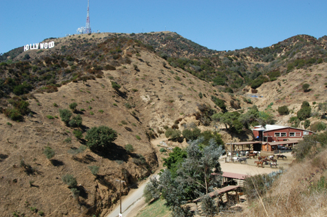 The Sunset Ranch at the top of Beachwood Avenue in 'Hollywoodland'.