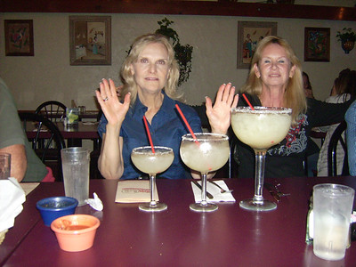 The wranglers asked us to have 'only one drink' at the restaurant.  Here's the Margueritas from which to choose.  The big one is 42 ozs.