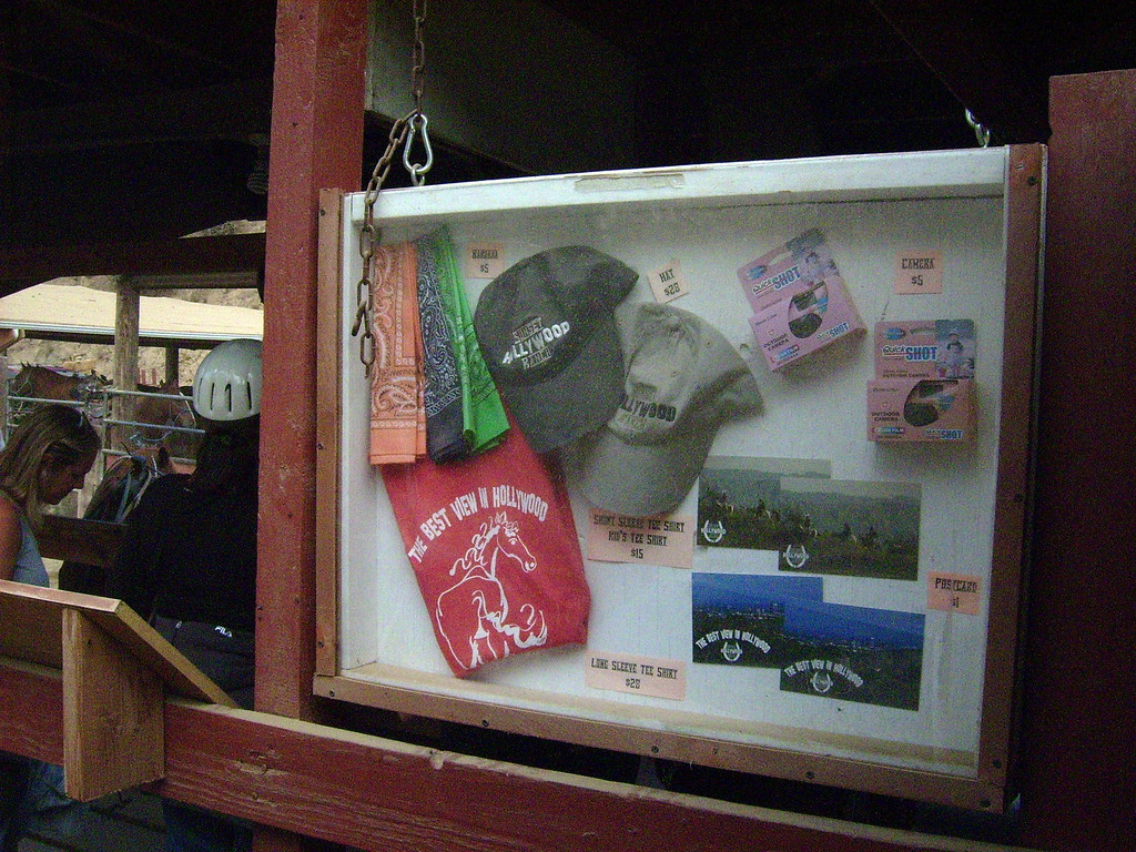 Sunset Ranch offers souvenirs of the rod including bandanas for the  dusty trail ahead.
