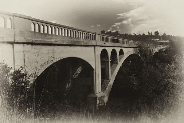 An old bridge seemed to warrant at least one photo processed with an old timey look. I used Nik's Silver Effects Pro for this one.
