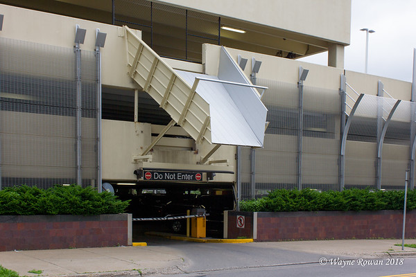 Chute at Parking Garage Near Basilica of Saint Mary, Minneapolis