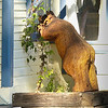 Wooden Bear in Window