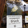 Engagement Truck Sign at Estes Park, Colorado Jeweler
