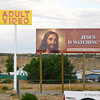 This juxtaposition of signs in Farmington, New Mexico speaks for itself.