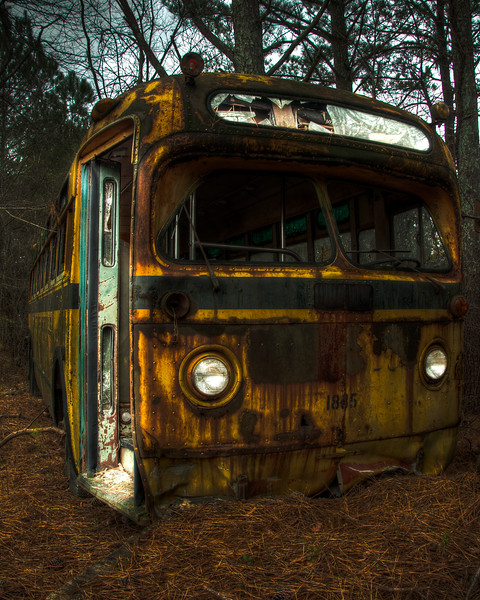 """<h3 style=""""text-align: left;""""><strong>Today's Photo:  The Magic School Bus</strong></h3> My kids have spent the last several years watching a television show called The Magic School Bus.  There was nothing magical about this rusted old school bus near the back of Old Car City.  That is unless you used a little imagination and a lot of creativity.  When I saw this, I decided that I wanted to bring it back to life.  Maybe like a cat with nine lives.  Surely around number eight or nine, it has to be looking kinda ragged.  I wanted to capture that, but also that maybe there is still some life left in it.  - Daryl Clark  Read more at the <a href=""""http://justshootingmemories.com"""">Daily Photography Blog</a> Just Shooting Memories!..."""