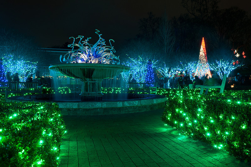 """<h3 style=""""text-align: left;""""><strong>Today's Photo:  From the Water it Comes</strong></h3> For the beginning of 2013, I bring you the last adventure from 2012.  I spent the evening with my family and friends at the Atlanta Botanical Garden's Garden Lights display.  When I was planning it, I did not know how much fun it was going to be, nor how beautiful the garden would be decorated in Christmas lights.  This shot is of the fountain in the middle of the Levy Parterre.  -Daryl Clark  Read more at the <a href=""""http://justshootingmemories.com"""" rel=""""nofollow"""">Daily Photography Blog</a> Just Shooting Memories!..."""