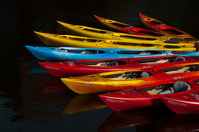 Colorful Kayak Fan
