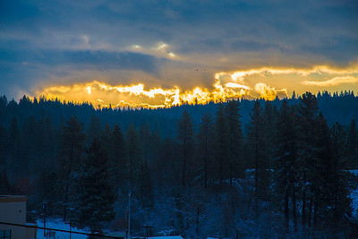 Grass Valley Sunrise after snow 12/6/13