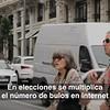 Un container en Madrid para denunciar la desinformación