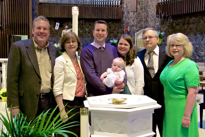 At the Baptism of Alexander James, with Grandparents