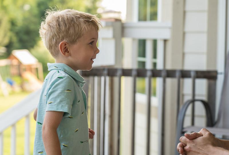 Alex on the porch
