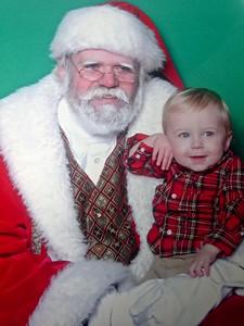 With Santa, Christmas 2014