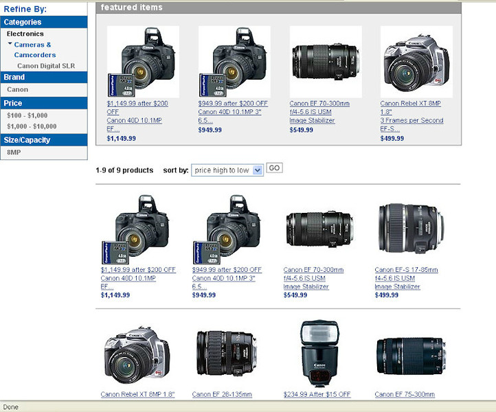 Costco Canon40D package 060908 1040pm