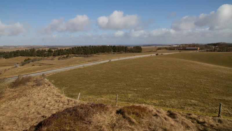Kløvenhøj. March 19 @ 10:50<br /> View towards Doverodde