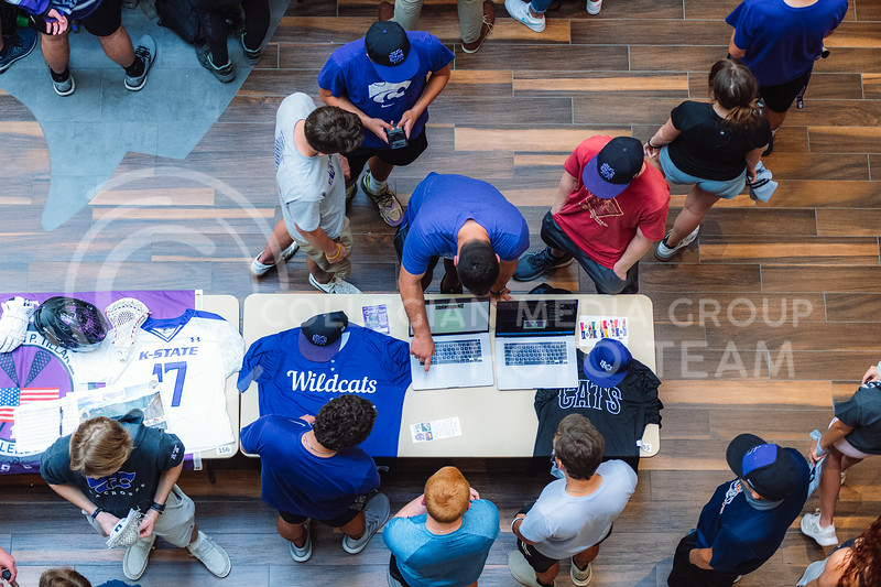 K-State Fall 2021 Activities Carnival located in the student union. Over 100 student organizations hosted booths throughout the union allowing students the opportunity to speak to organizations directly. Wednesday, August 25. (Dylan Connell | Collegian Media Group)