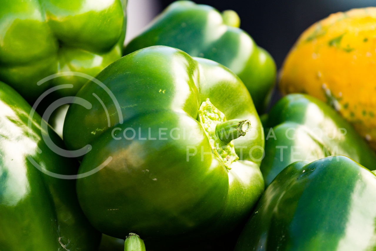 A Bell Pepper for sale at the K-State Farmers Market on the 25th October, 2017 (Alex Shaw | Collegian Media Group)