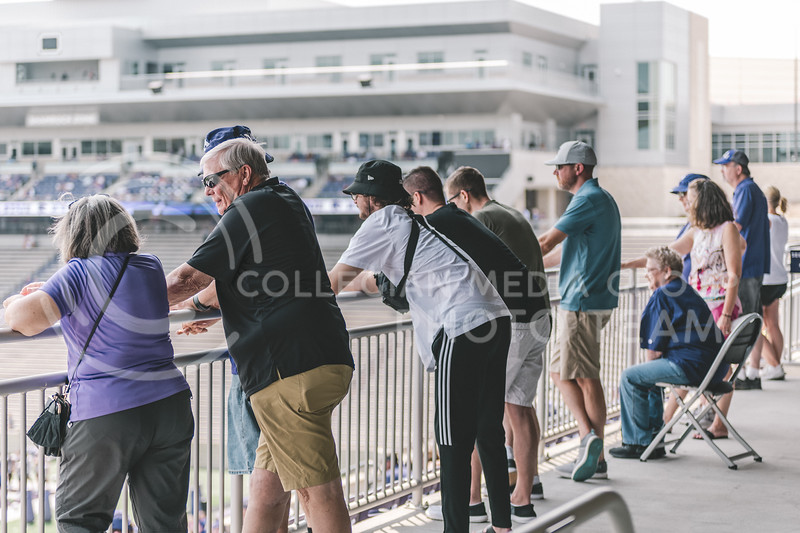 For the final 45 minutes, K-State's football practice was opened to the public on Saturday, August 7th, at Bill Snyder Family Stadium. (Dylan Connell   Collegian Media Group)