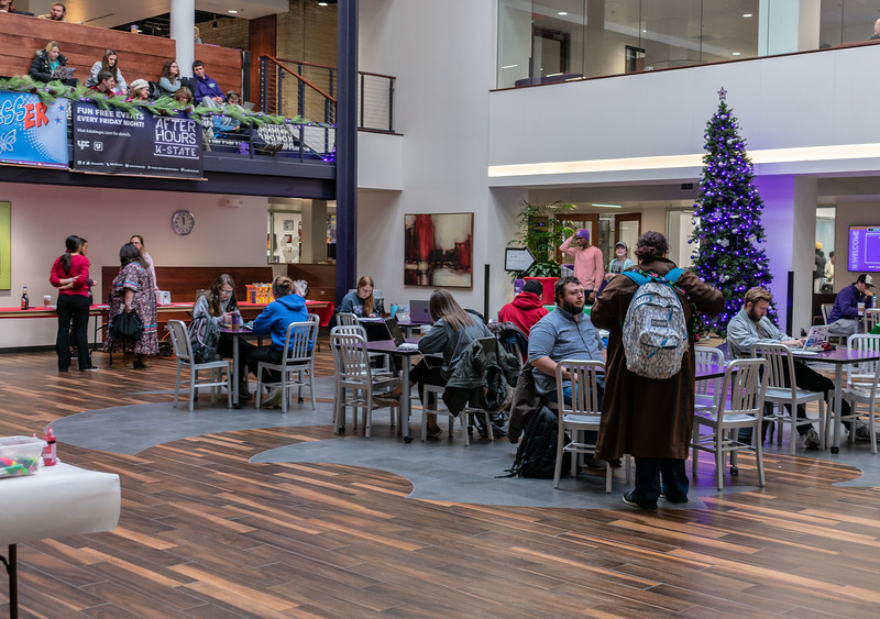The K-State Union provides various amenities for students. From Radina's Coffeehouse to popular fast food restaurants, to bowling and the famous Call Hall ice cream, the student union is a perfect place to study or hang out with friends. (Brooke Barrett | Collegian Media Group)