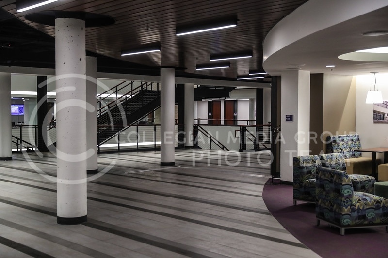 The main passing area on the second floor of the Student Union. (Photo by Cooper Kinley | Collegian Media Group)