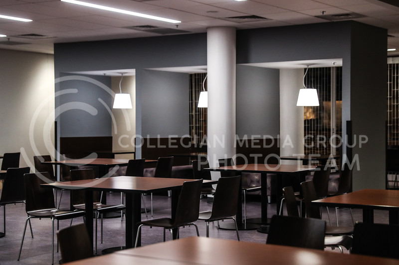 One of the many dining areas in the student union. (Photo by Cooper Kinley | Collegian Media Group)