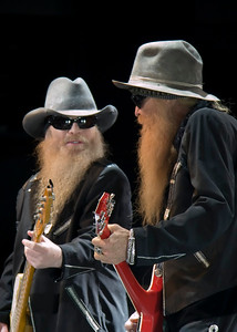 dusty hill and billy gibbons; zz top