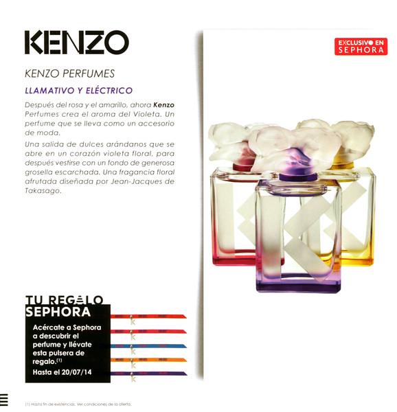 87f8b6c5 Couleur KENZO Diverse (Jaune-Yellow + Rose-Pink + Violet) 2014 Spain