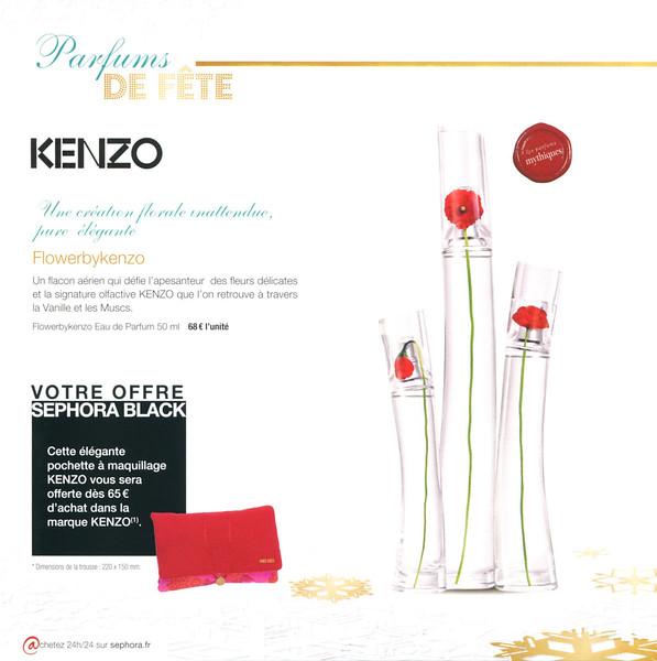 Flower by KENZO 2011 France (Sephora stores) format 20 x 20 cm 'Une création florale inattendu, pure élégante'