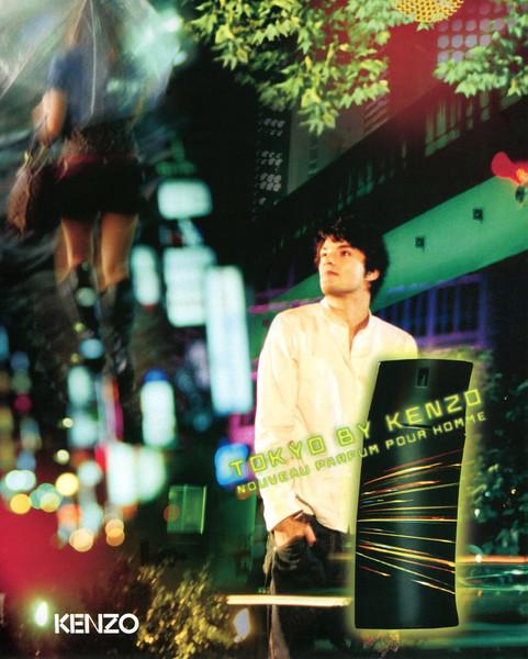 Tokyo by KENZO 2007 Belgium 'Nouveau parfum pour homme'<br /> <br /> MODEL: Michel Novello; PHOTO: Patrick Guedj;  BOTTLE DESIGN: Kashiwa Sato