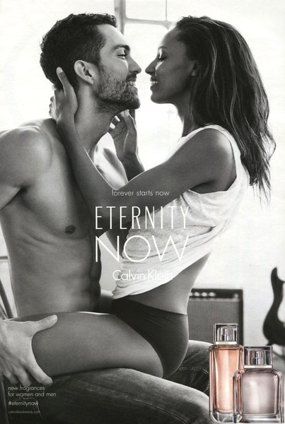 CALVIN KLEIN Eternity Now 2015 Spain (handbag size format) 'Forever starts now - New fragrances for women and men'