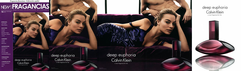 CALVIN KLEIN Deep Euphoria 2016 Spain (glossy 5-page foldout) 'A new fragrance for her - macy's and macy's. com'