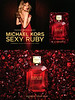 MICHAEL KORS Sexy Ruby 2017 US (recto-verso card 11 x 17 cm with  scent patch) 'Magnify your sexy - Experience the new fragrance for women'
