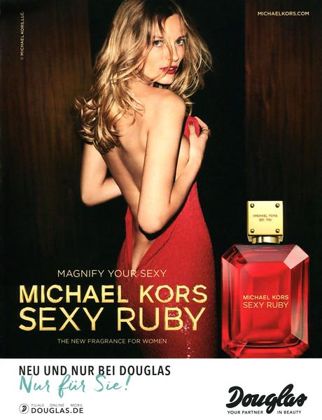 MICHAEL KORS Sexy Ruby 2017 Germany (Douglas stores) format Grazia 22 x 28,5 cm 'Magnify your sexy - The new fragrance for women - Neu und nur bei Douglas - Nur für Sie!'