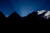 Sunrise behind Gasherbrum IV.