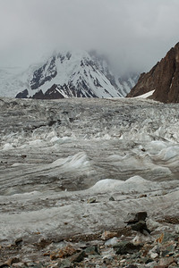 The Savoia Glacier that flows along the flank of K2