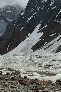 The Savoia Glacier runs alongside the Godwin Austen until they meet up with the Baltoro at Concordia.