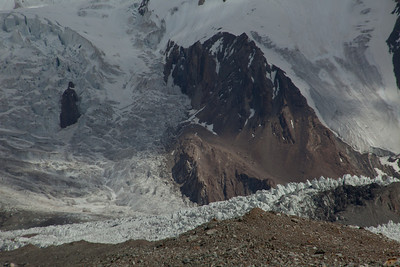 The base of K2.  By this time we had passed Broad Peak Base Camp and it was no longer possible to take a picture of K2 and have it fit in your viewfinder, even dor the wide angle lens.