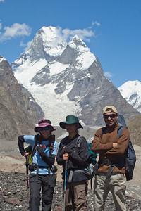 "Murad with Iza and Anisa.  Murad was a guide to the BBC crew that filmed Markhor (a mountain goat that lives in Chitral) and the snow leopard for ""Planet Earth""  If you watch closely you can spot Murad dancing."