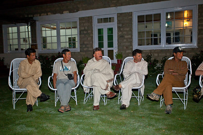 We gathered in the K2 Hotel in Skardu for our farewell gathering.  The next day Khalil, Asif and Zahoor were leaving for their villages, so this was our chance to thank them for their hard work.